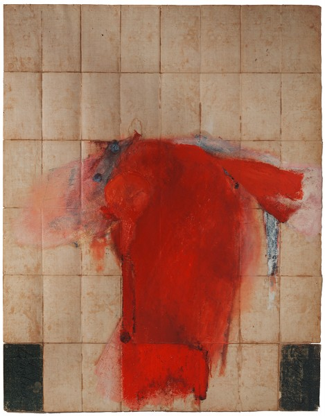 Mark Lammert - ALLIED, 1994-1996, oil on the back of map, 136 x 105 cm