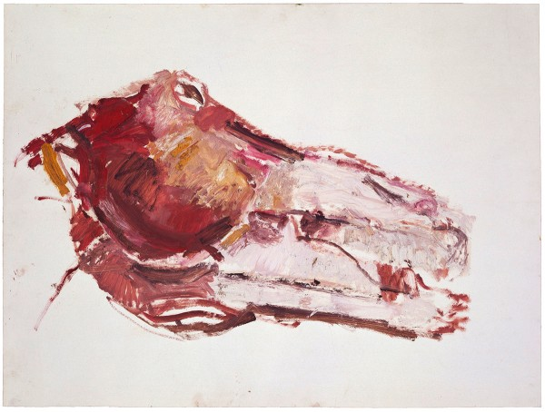 Mark Lammert - FLESH, 1985-1988, oil an paper, 50 x 60 cm