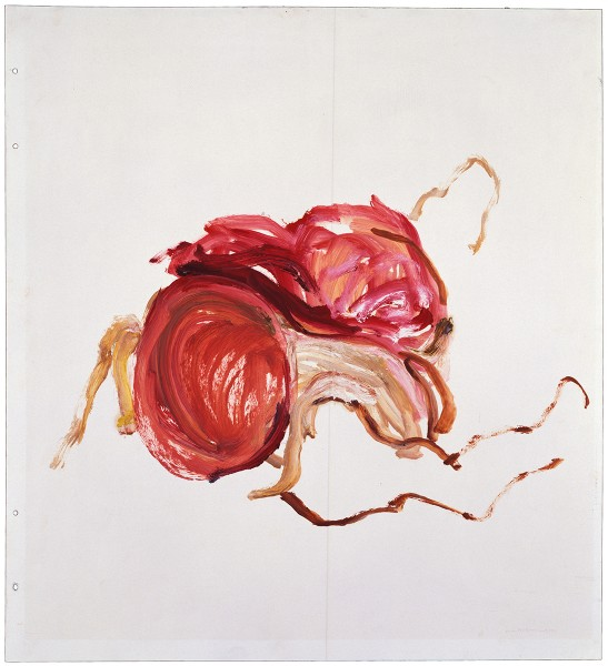 Mark Lammert - FLESH, 1985-1988, oil on paper, 71 x 71 cm