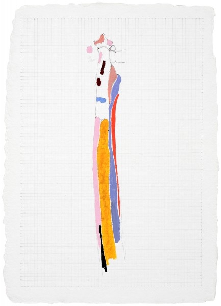 Mark Lammert - KNOCHEN, 2006-2007, Kohle, Stift und Öl auf Papier, 45 x 33 cm