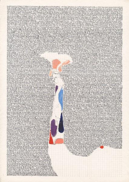 RISSE, 2017, Kohle, Stift und Tusche auf Papier, 45 x 33 cm