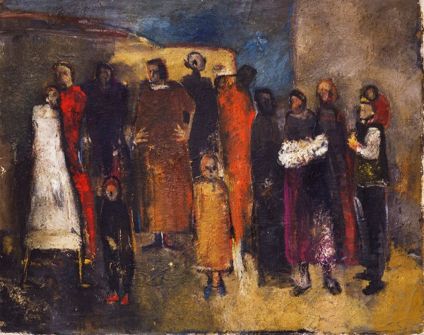 Mark Lammert - PEOPLE WAITING, 1986-1987, oil on canvas, 71 x 90 cm
